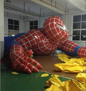 Spideruomo autotoon gigante gonfiabile per la pubblicità esterna 5m