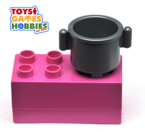 Cooker Hot Plate Kitchen Family House Food Eat *NEW* LEGO DUPLO Stove with Pot