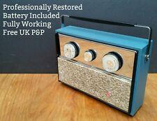 RESTORED Pye Q7 Portable Transistor Radio Vintage 1950s 1960s Atomic Sputnik