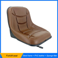 Universal Forklift Seat Agricultural Machinery Waterproof Seat Steel Frame Brown
