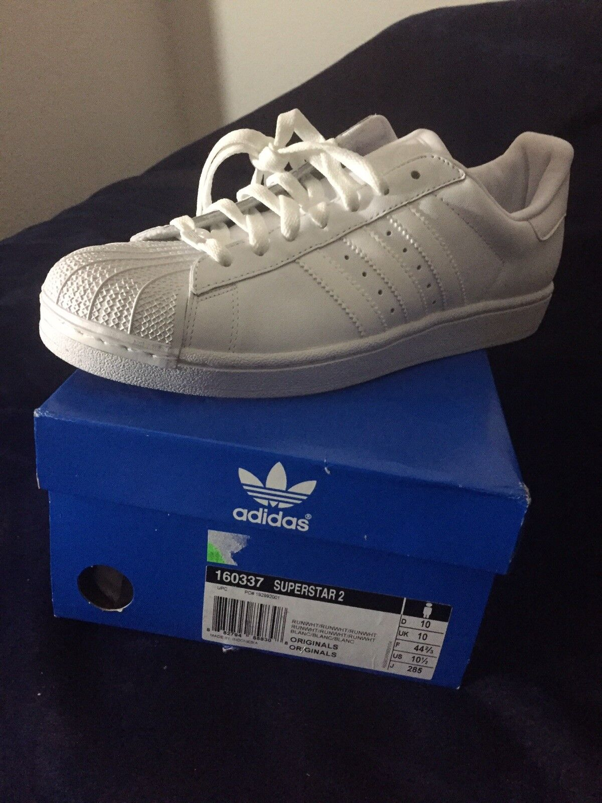 Adidas superstar 2 2 superstar white size 10.5 M Uomo Brand New a2cc49