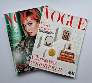 Vogue Magazine UK December 2015 Karlie Kloss Includes Christmas Supplement
