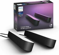 Philips Hue Play White & Color Ambiance Bar Smart Light 2-Pack Black