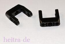 LEGO Technik - 2 x U - Verbinder 3x3x1 schwarz z.B. für Getriebe / 87408 NEUWARE