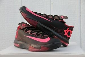 best website 18e31 f704a Image is loading Nike-KD-VI-Meteorology-Black-Atomic-Red-Olive-