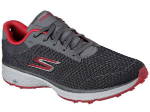 Skechers-Go-Golf-Fairway-Shoes-Charcoal-Red-Mens