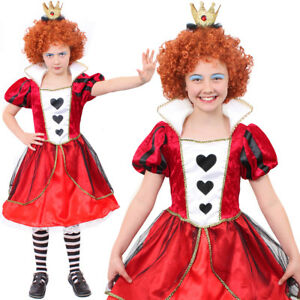 image is loading girls queen of hearts fancy dress outfit kids