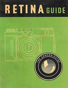 Vintage Retina Guide 65 Pages Booklet First Edition 1952 ~ FREE Shipping USA