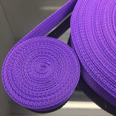 NEW Hot 2 5 10 50 Yards Length 30mm Width Nylon Webbing Strapping Knapsack Belt