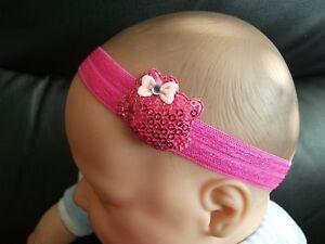 BABY GIRL REBORN DOLL PINK /& WHITE BOW HELLO KITTY HEADBAND