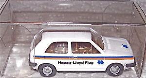 VW-GOLF-HAPAG-LLOYD-AEREO-MODELLO-PUBBLICITARIO-Wiking-1-87-A