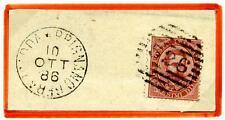 ITALIA - Regno - 1886 - Da Brignano Gera d'Adda/Bg - 10 c. - Effigie Umberto I