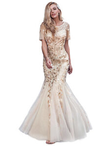 Ever-pretty US Plus Size Long Mermaid Evening Dress Sequins Celebrity Prom Gown