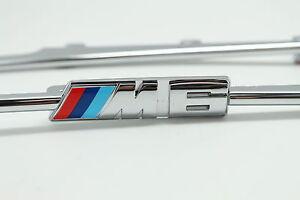 2-Chrome-Molding-Side-Fender-Vent-Grill-Grille-Trims-For-BMW-6-M6-E63-E64