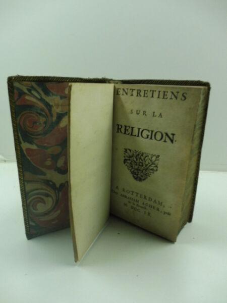 (basnage Jacques De Beauval), Entretiens Sur La Religion Pregevole Fattura
