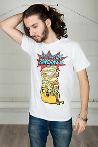Official-Adventure-Time-Makin-Bacon-Frittelle-T-Shirt-Unisex-Ghiaccio-Re-Jake