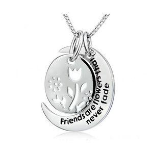 Reino-Unido-925-Plata-PLT-039-Amigos-Son-Flores-que-nunca-se-desvanecen-034-Grabado-Collar-mejor
