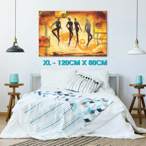 AB533 Orange African Style Modern Abstract Canvas Wall Art Large Picture Prints