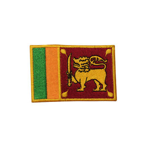 Sri Lanka Country Flag Patch Iron On Patch Sew On Badge Embroidered Patch