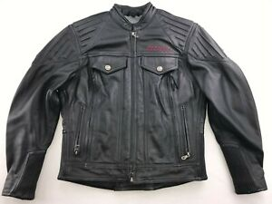 HARLEY-DAVIDSON-WOMEN-039-S-RIBBED-VROD-LEATHER-RIDING-JACKET-SMALL-97091-02VW