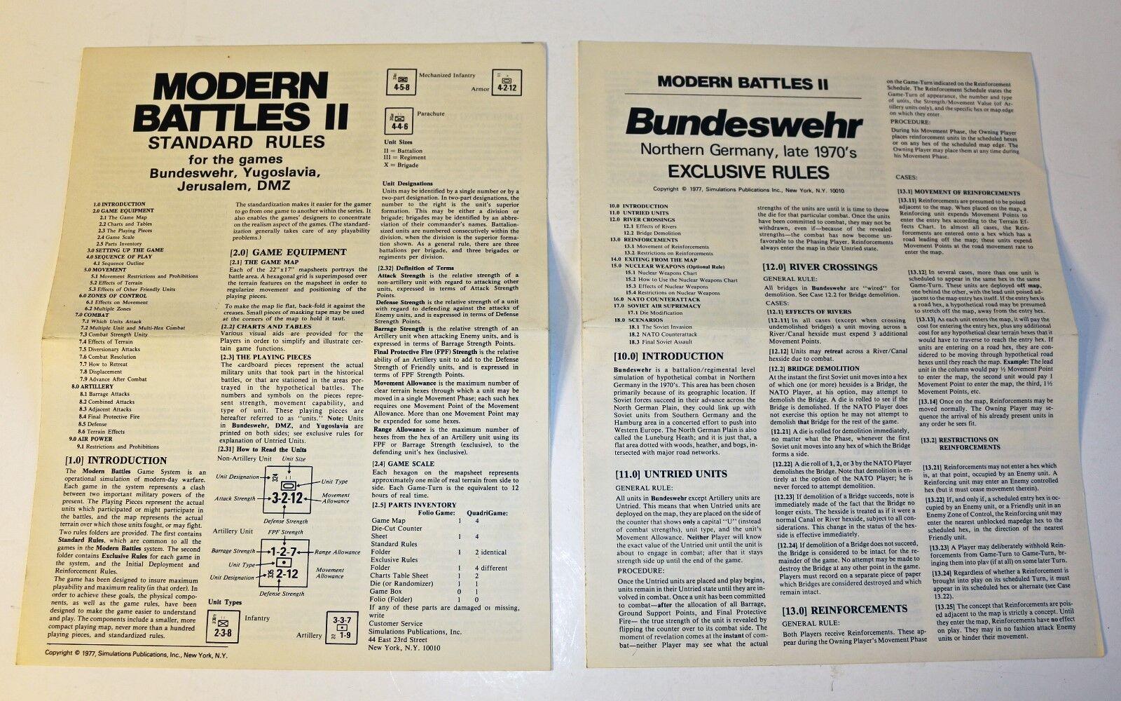 SPI SPI SPI Folio Game - Bundeswehr Northern Germany, Late 1970s 33d2a4