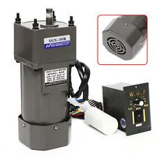 Ac Gear Motor High Torque With Speed Controller Reduction Ratio 150 27rpm 90w