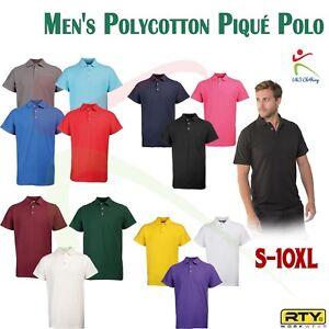 RTY-Workwear-Classic-Pique-Poloshirt-Mens-Casual-200gsm-Durable-Tee-Shirt-S-10XL