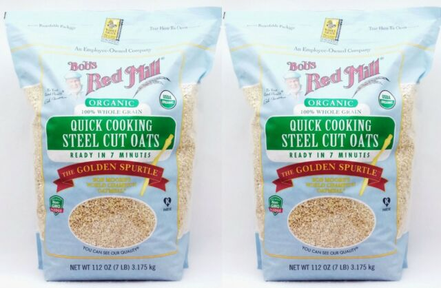 2 Bags Bobs Red Mill Organic Quick Cooking Steel Cut Oats 7 Minutes 7 Lbs Each For Sale Online