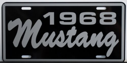 1968 68 FORD MUSTANG LICENSE PLATE 260 289 302 CONVERTIBLE FASTBACK SHELBY GT