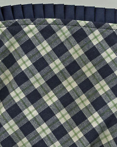 Longaberger-2004-Mending-Blue-Ribbon-Plaid-Fabric-Liner