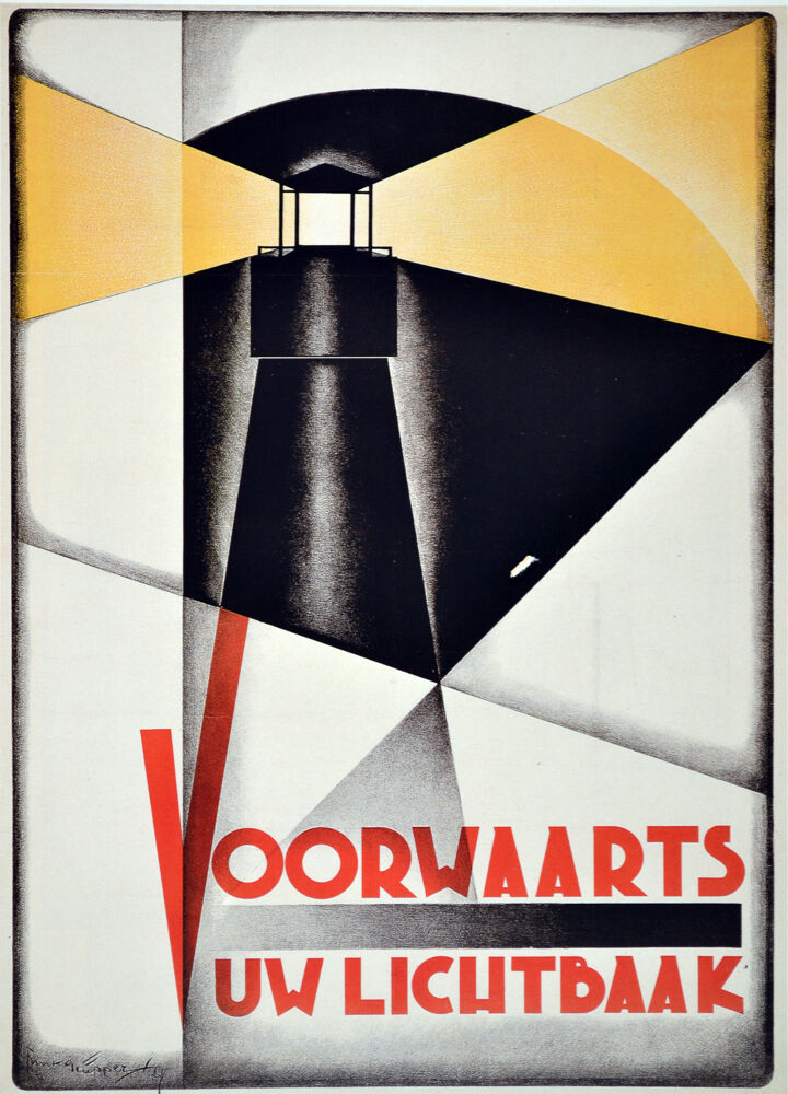 2366. Voorwaarts uw Lichtbaak Art Decoration POSTER. Home Graphic Design