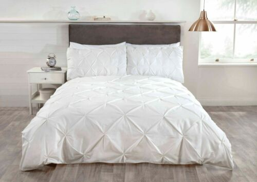 Rapport Balmoral Housse de couette Diamond Pinch Literie Simple Double King Taille