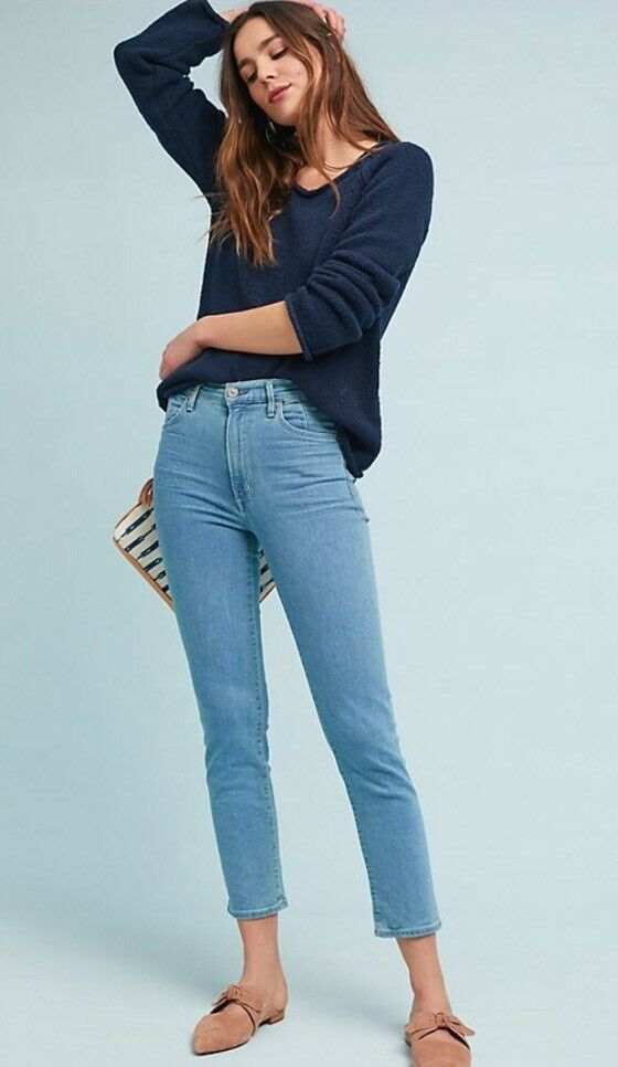 NWT Citizens Of Humanity Anabella High Rise Cigarette Jeans 31 NEW