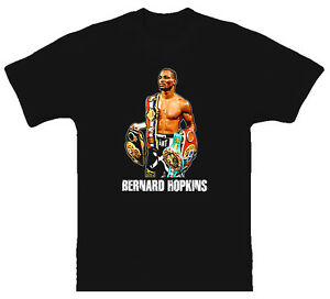 Bernard-Hopkins-Belts-Boxing-Champion-NEW-Black-T-Shirt