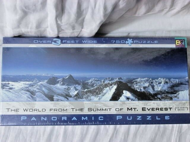 Buffalo Games Puzzle The Summit Of Mt Everest Panoramic 750 Pcs 3 Ft Wide New