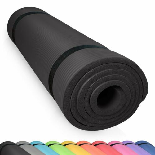 diMio Gymnastikmatte SCHWARZ Yogamatte Bodenmatte Fitnessmatte Turnmatte Yoga