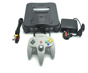 Nintendo-64-Console-N64-NTSC-J-Grey-Japan-Japanese-Version-Working-Region-Free
