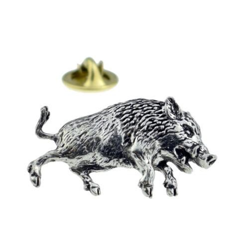Pewter Lapel Pin Badge XTSPBA68 Wild Boar 3