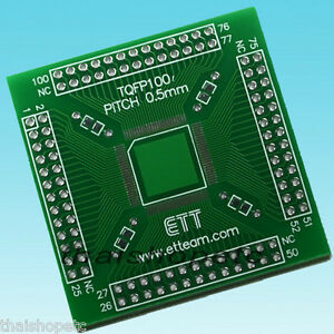 TQFP100-TQFP-100-Adapter-PCB-SMD-Convert-DIP-Double-Side
