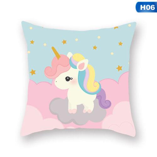 Unicorn Pillow Case Peach Skin Sofa Cushion Cover Throw House Bed kkf14 ReZKo