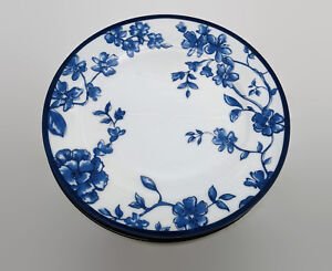 Image is loading Portobello-By-Inspire-Blue-&-White-Floral-Salad- & Portobello By Inspire Blue \u0026 White Floral Salad Dessert Plates Set ...