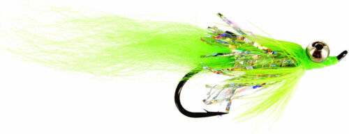 Fly Fishing Flies Coho Comet Chartreuse Fly 6 Steelhead, Salmon, Trout, Chub