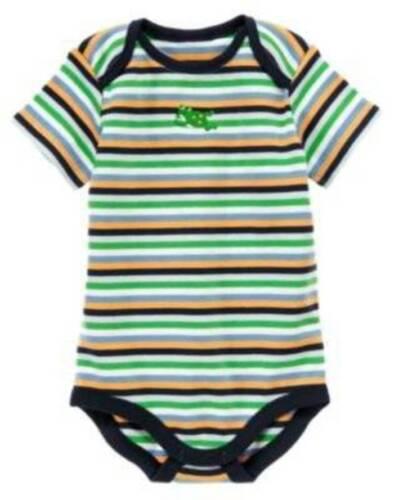 3-6 M 6-12 M NWT Gymboree Brand New Baby Striped Frog One Piece Preemie 0-3 M