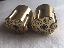 Brass  harley davidson Bullet  bar ends