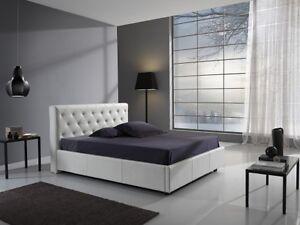 Camera Da Letto Bianco : Letto matrimoniale con contenitore in ecopelle bianco camera da