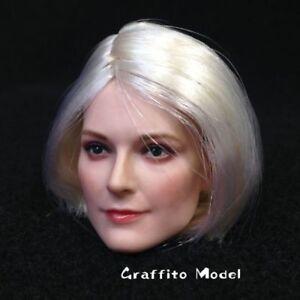 DSTOYS D-010 1/6 Plant Hair Female Head Sculpt Carving For