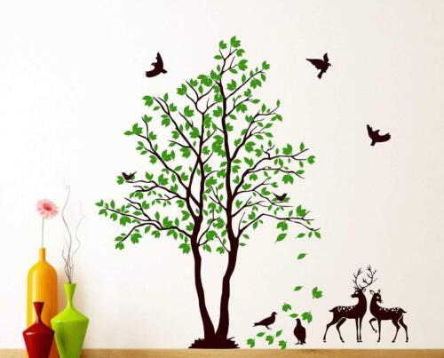 Green Tree Animals Wall Stickers Home Bedroom Decal Vinyl Decor Baby Room Home Decor Decor Decals Stickers Vinyl Art