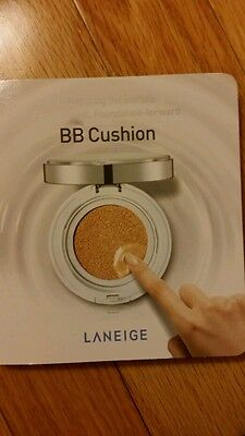 laneige bb cushion trial size 3 shades light, medium, and dark plus puff