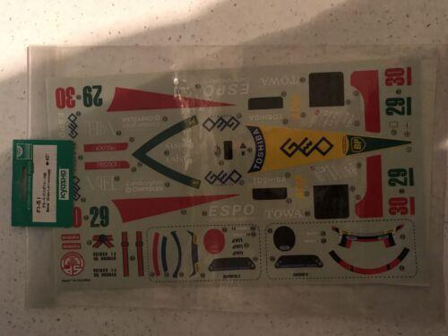 Kyosho FI51 Decal F1 Espo Larrousse Neuf sous emballage