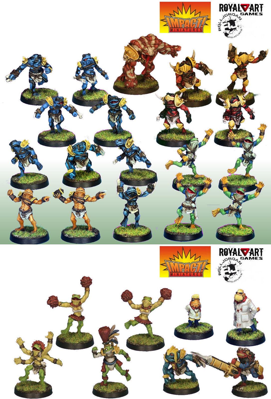 Impact  Miniatures  Rolljordan Horned Frog Deluxe Team (Resin) TC-HFRD